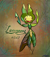 Leavanny - 542 by WillDrawForFood1