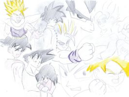 Gohan and Goku Layouts by Pan-Trunks
