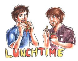 Lunchtime with Smosh! by VulpesLunaris