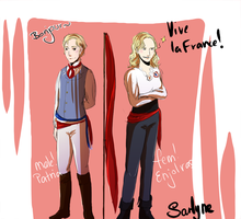 Les Mis: Femjolras and m!Patria by SarlyneART