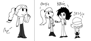 Dairy of a wimpy kid Me and my ocs by iza200117