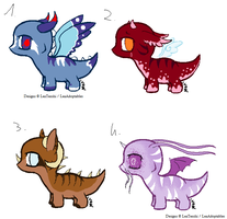 CLOSED - Chibi Dragons Adoptables 68 by LeaAdoptables