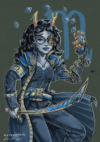 Fanart - SkyPirate!Stuck Vriska by fictograph