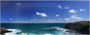 Flinders Blowhole Panorama by K-Tak