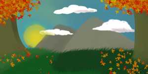 Autumn background for Commision by WolfxTracks