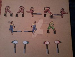 Mini Arcade Extra Fighters PaperCrafts by SuperVegeta71290