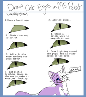 Drawing Cat Eyes in MS Paint [Tutorial] by Fr0st-Bitten