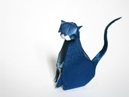 Wise Cat - Origami by mitanei