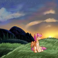 Scootaloo Dreamscape by Pegabella