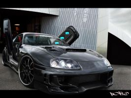 Black JZA80 Supra by pont0