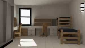 Dorm Interior Day by ams719
