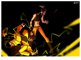 Lance and Hellegar would like to battle. by L0UDST