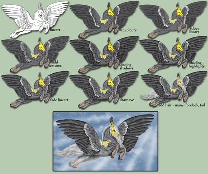 Feathers on display (process) by FlightDesigns