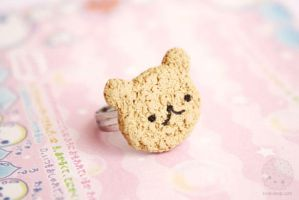 Bear cookie ring by kukishop