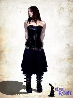 Black-corset Blue rabbit by Limlint