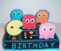 pacman cake by LeighVC