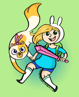 AT: Fionna and Cake by TeenerMeener