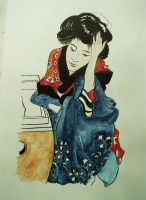 From a Japanese painting by in2ni