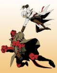 Hellboy vs Altair by doubleleaf