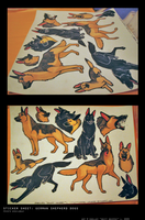 stickers: German Shepherds by swift-whippet