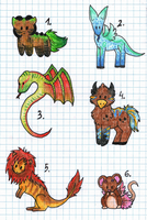 Creature Adoptables by Bluefirewings