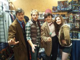 Doctor Who Cosplay: Ten, Eleven, Ponds by KnoppGraphics