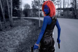 Better picture of my Mystique by TwistedKatiekat