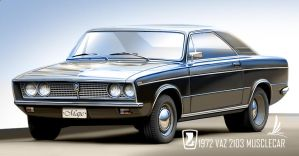 VAZ 2103 Tunned as musclecar by m-a-p-c
