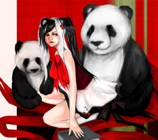 Panda Girl by Ruiski