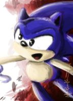 Sonic doodle by supercrazzy