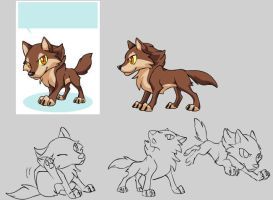 New wolf pet design by J-C