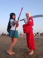Kagome and Inuyasha - Riminicomix 2015 by Groucho91
