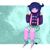 flipping u off in hipster space by tampontea