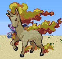 Rapidash Pixel Art by BecomeOneWithHim