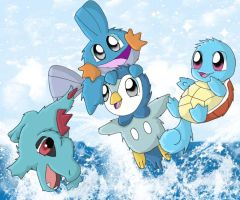 Water Starters Make a Splash by chikadee34