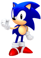 Another 25th Anniversary Classic Sonic Render by JaysonJean