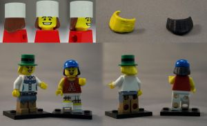 Lego Hair for Hats by UnexpectedToy
