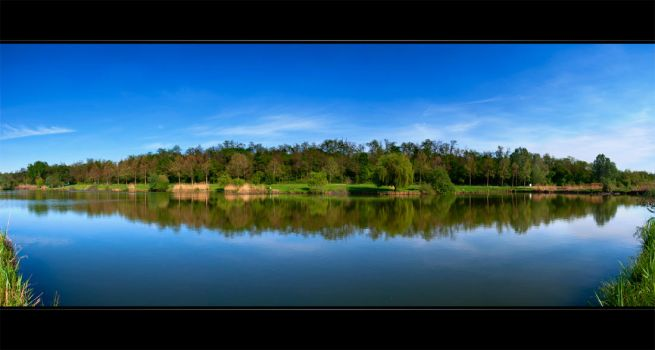 Fishpond Panorama by NorbertKocsis