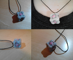 Companion Cube Charm Necklace by CharredPinappleTart