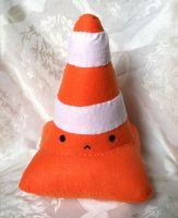 Traffic Cone Plush by PinkChocolate14
