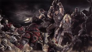 GOW3 Night Battle by khuon