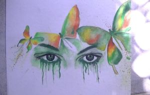 green eyes of sorrow . by abtheartist