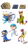 PKMNC - Fossils and Donors by TamarinFrog
