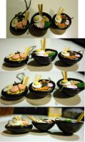ramen noodles bowl and plate by cutieexplosion