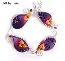 VegetAria in Purple and Orange, the bracelet by Alkhymeia