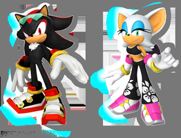 Shadouge Sonic Free Riders by SweetGems