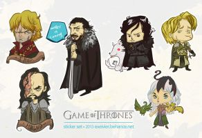 Game of Thrones Stickers by Exeivier
