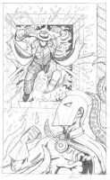 Dr. Fate and Question Pencils by garystrange