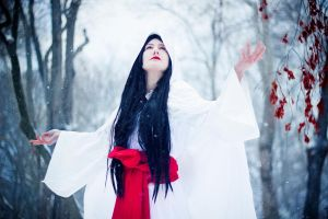 Shirahime Syo: Snow Goddess by yaseminkaraca