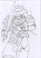 Space Marine 1 Pencils by markador